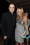 Jury Member actor Benicio del Toro (L) and Gucci Creative Director Frida Giannini attend the Vanity Fair and Gucci Party Honoring Martin Scorsese during the 63rd Annual Cannes Film Festival at the Hotel Du Cap Eden Roc on May 15, 2010 in Cannes, France. (Photo By Daniele Venturelli/WireImage for Gucci)