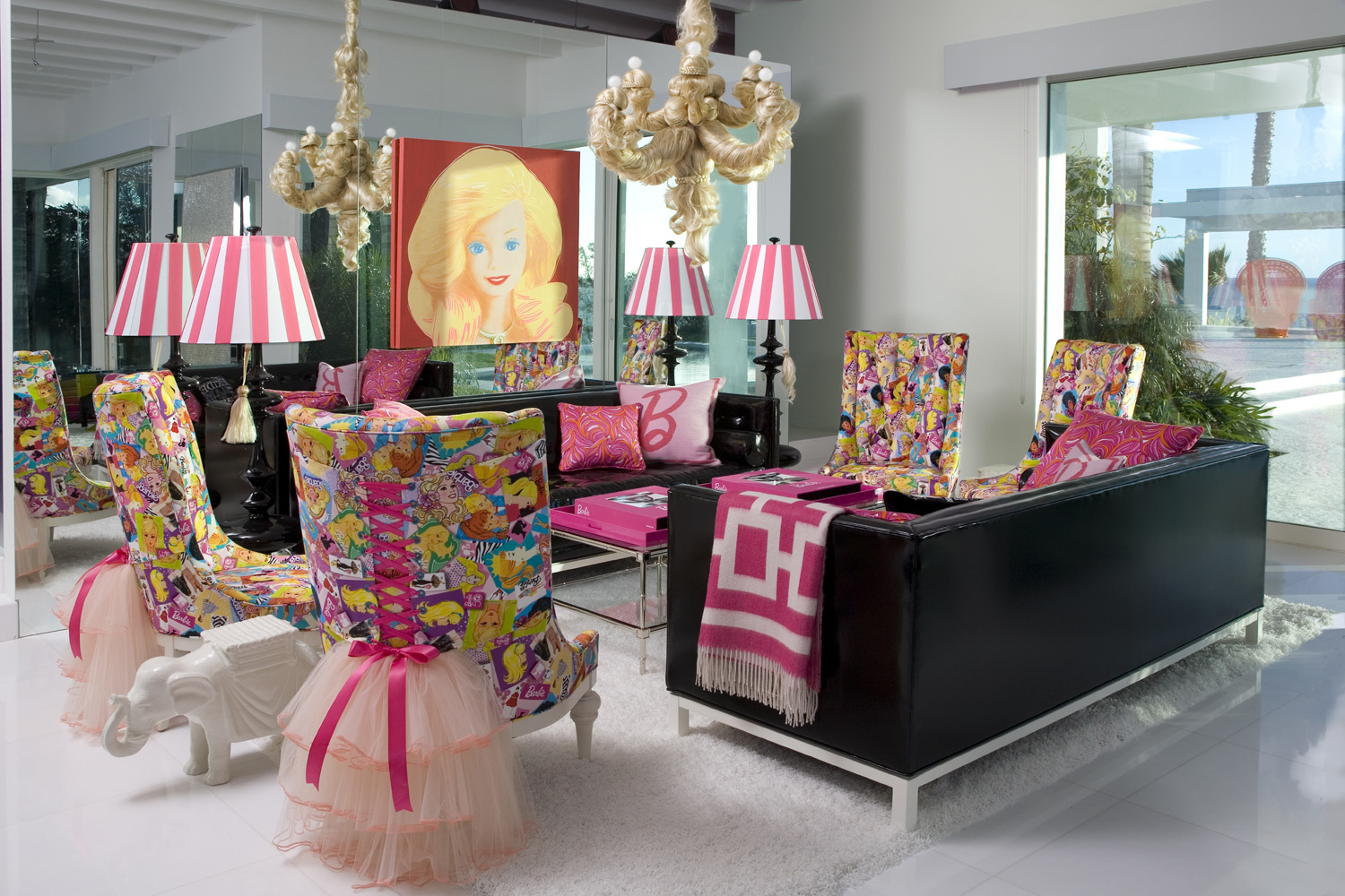 Barbieu0027s Living Room At Her Real Malibu Dream House Decorated By Jonathan  Adler