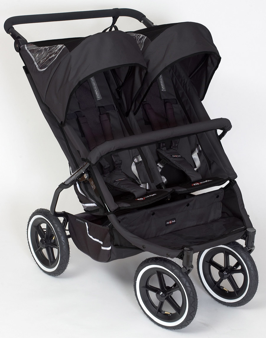 Phil and Teds Twin Black Stroller