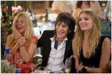 Sienna Miller, Ronnie Wood, Lily Donaldson