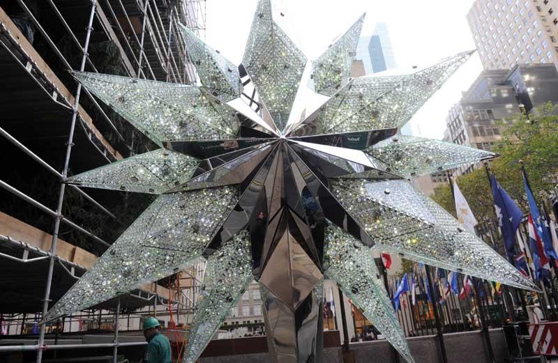 2012 Swarovski Star Unveiled For Rockefeller Center Christmas Tree