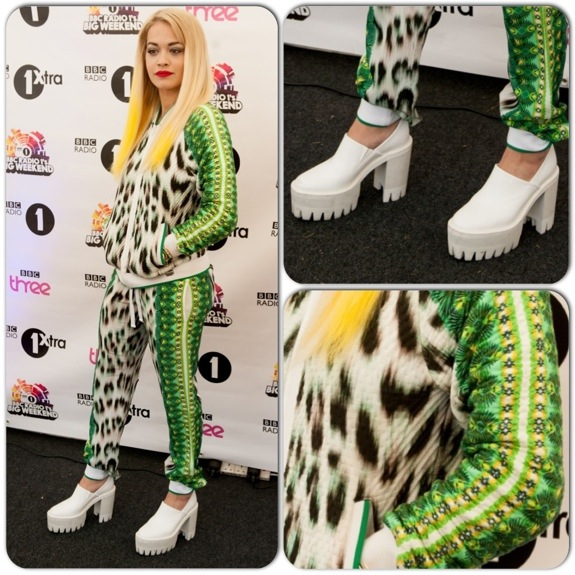 9ef95cea1a13 Rita Ora Wears Roberto Cavalli Gym look - FashionWindows Network