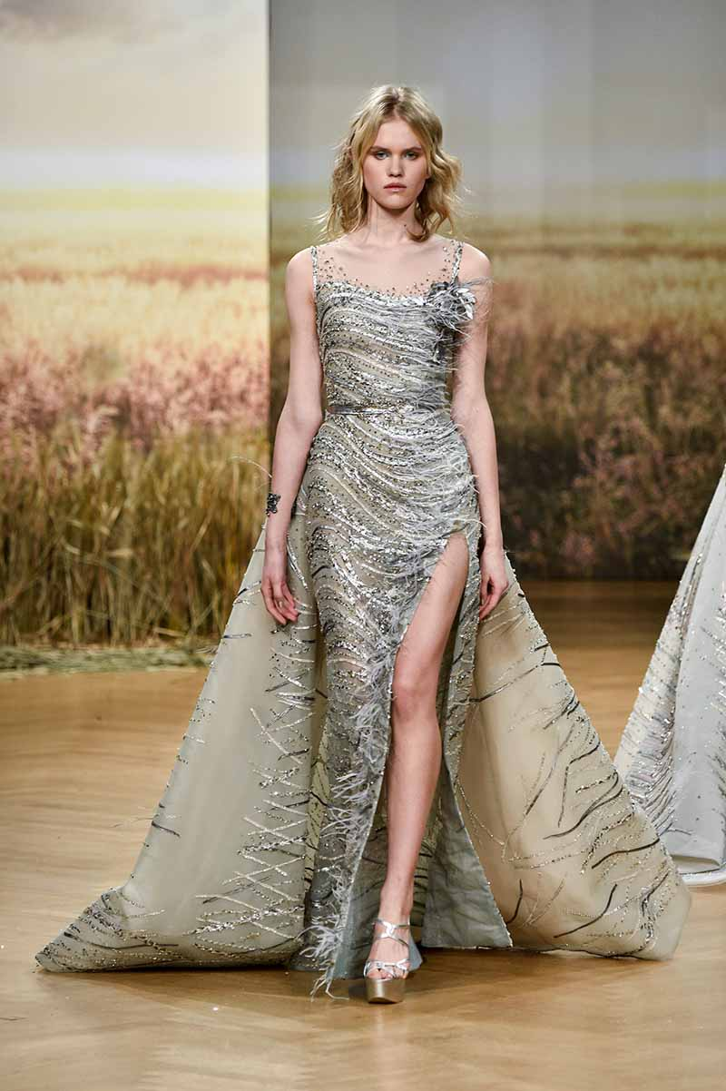 3ca0914c27b Ziad Nakad Spring 2018 Couture Collection  Demeter - FashionWindows ...